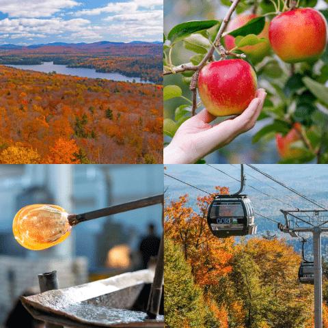 Fall fun -apply picking, hiking, gondola and glass blowing