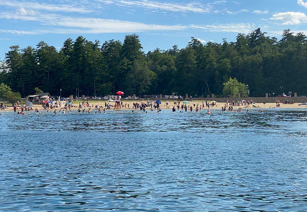 Beach packed with beach goers