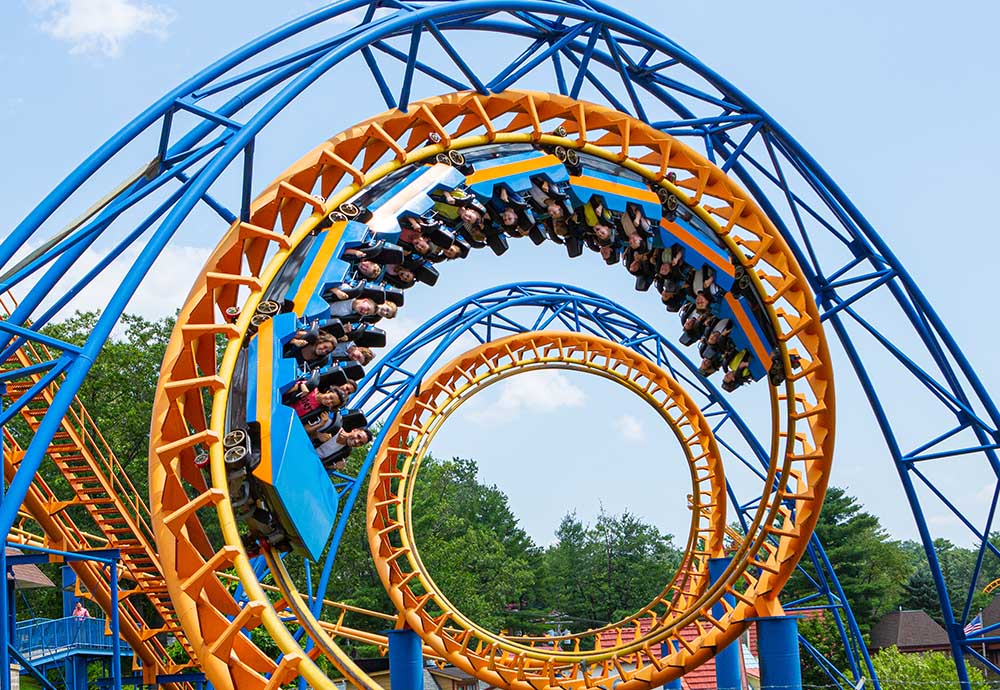 Roller coaster with loops
