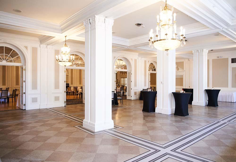 ballroom with large columns