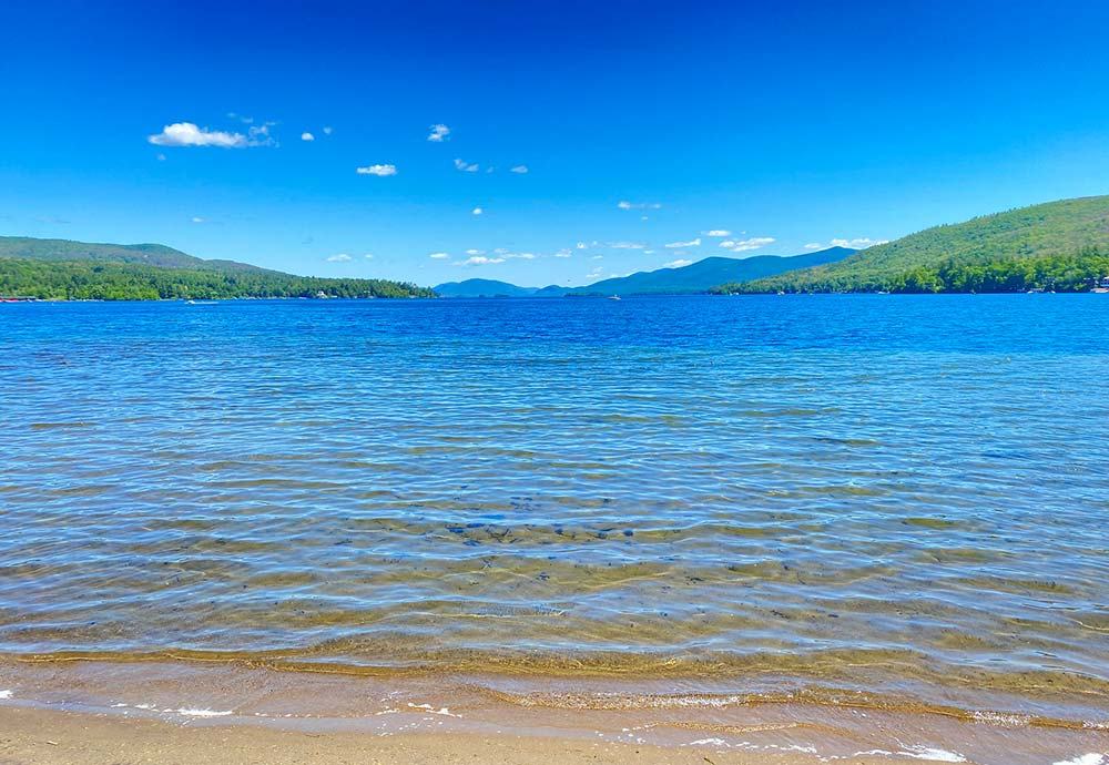 view out on Lake george